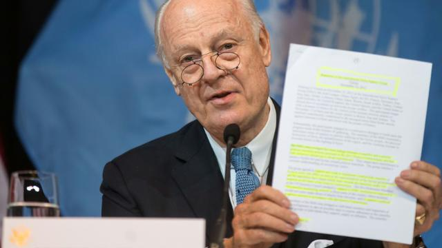 Le médiateur de l'ONU Staffan de Mistura, à Vienne le 14 novembre 2015 [VLADIMIR SIMICEK / AFP/Archives]