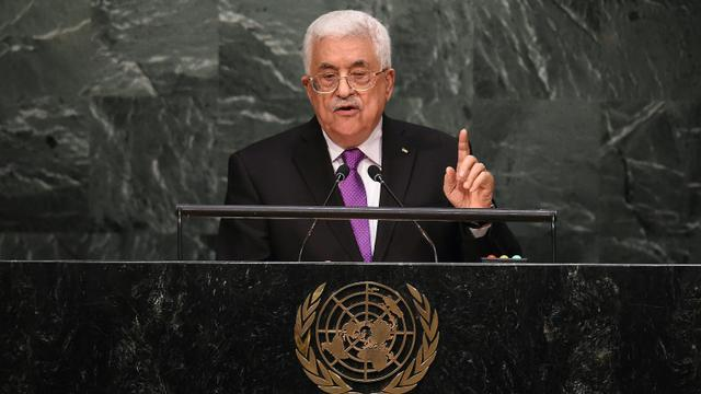 Le président palestinien à la tribune de l'Onu, le 30 septembre 2015 à New York [JEWEL SAMAD / AFP/Archives]
