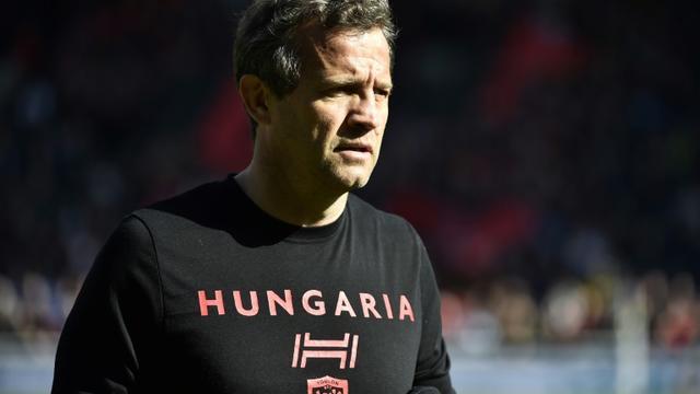 L'entraîneur de Toulon Fabien Galthié lors du déplacement à Lyon le 3 mars 2018 [ROMAIN LAFABREGUE / AFP/Archives]