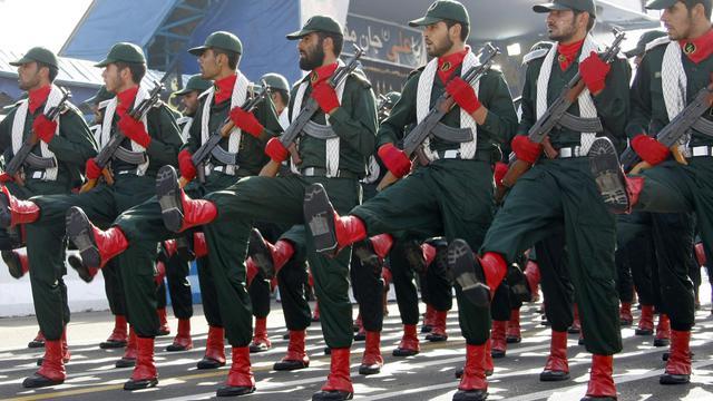 Les Gardiens de la révolution défilent à Téhéran, le 21 septembre 2008 [Behrouz Mehri / AFP/Archives]
