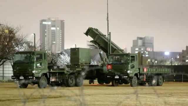 Système de défense antimissile déployé à Tokyo le 29 janvier 2016 [JIJI PRESS / JIJI PRESS/AFP]