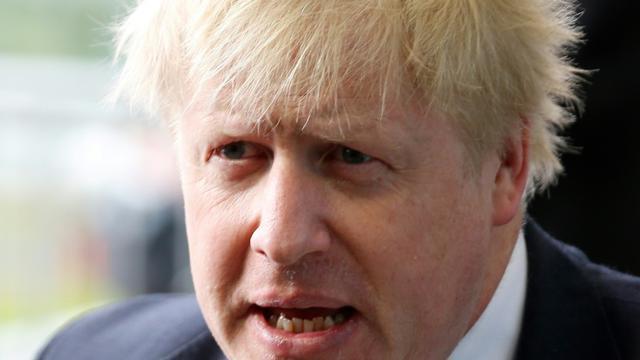 Boris Johnson, un des chefs de file du camp pro-Brexit, le 16 avril 2018 à Luxembourg [Emmanuel DUNAND / AFP/Archives]
