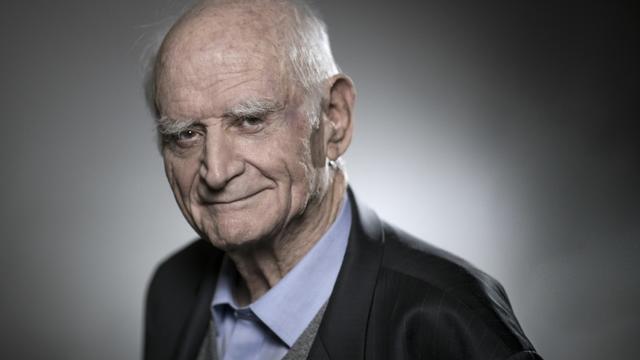 Le philosophe et académicien Michel Serres, le 2 février 2018 à Paris [JOEL SAGET / AFP/Archives]