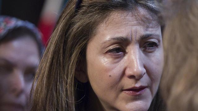 Ingrid Betancourt à La-Plaine-Saint-Denis, près de Paris, le 10 mars 2012 [Joel Saget / AFP/Archives]