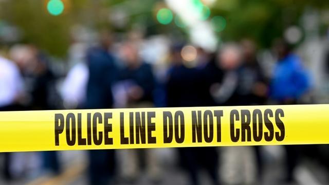 """Le syndicat des policiers de Los Angeles dénonce dans un communiqué des accusations """"extrêmement perturbantes"""" [Johannes EISELE / AFP/Archives]"""