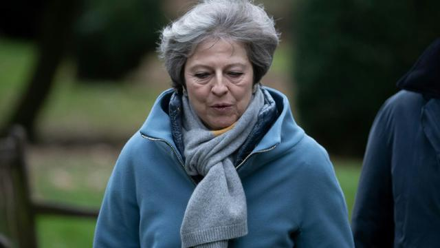 La Première ministre britannique Theresa May, le 13 jnavier 2019 près de Maidenhead, à l'ouest de Londres [Daniel LEAL-OLIVAS / AFP]