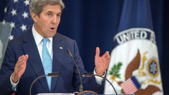 John Kerry au Département d'Etat à Washington le 28 décembre 2016 [PAUL J. RICHARDS / AFP]