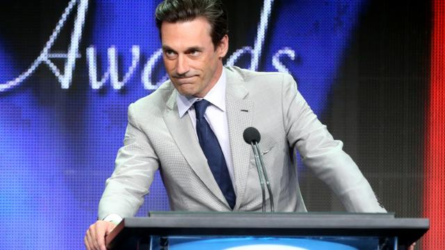 L'acteur Jon Hamm, personnage principal de la série Mad Men, le 8 août 2015 à Beverly Hills, en Californie [Frederick M. Brown / GETTY/AFP/Archives]