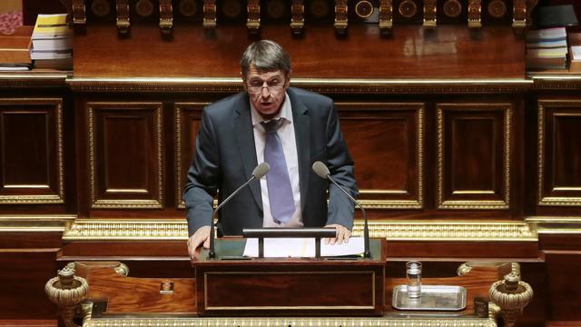 Dominique Watrin (Communiste, républicain et citoyen, CRC) le 28 octobre 2013 au Sénat à Paris [Jacques Demarthon / AFP/Archives]