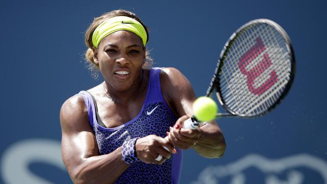L'Américaine Serena Williams affronte l'Allemande Angelique Kerber en finale du tournoi de Stanford, aux Etats-Unis, le 3 août 2014 [Ezra Shaw / Getty/AFP]