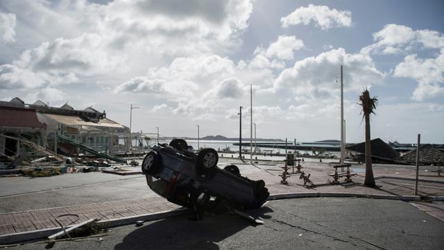 Le port de Marigot sur l'île de Saint-Martin le 8 septembre 2017 [Martin BUREAU / AFP]