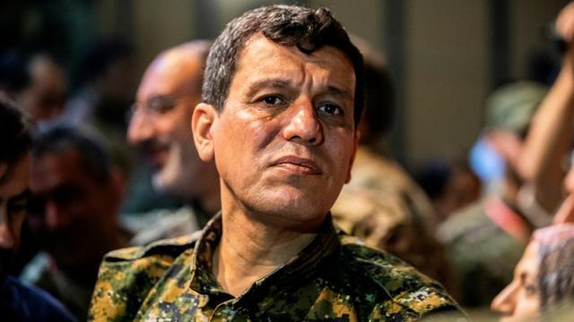 Le commandant des Forces démocratiques syriennes Mazloum Abdi, le 24 août 2019 à Hassaké, dans le nord-ouest de la Syrie [Delil SOULEIMAN / AFP/Archives]