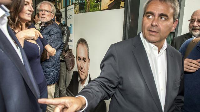 Xavier Bertrand en campagne pour les régionales le 27 août 2015 à Lille  [PHILIPPE HUGUEN / AFP/Archives]