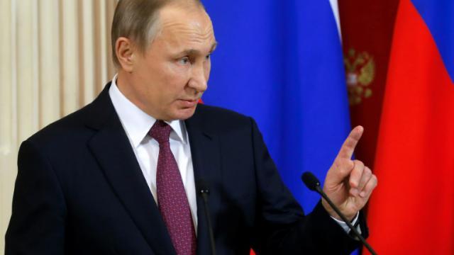 Le président russe Vladimir Poutine à Moscou, le 17 janvier 2017 [Sergei Ilnitsky / POOL/AFP]