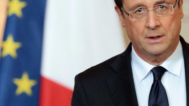 François Hollande, le 11 janvier 2013 à Paris [PHILIPPE WOJAZER / POOL/AFP/Archives]