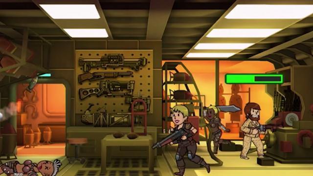 Le jeu permet de gérer un abris antiatomique.