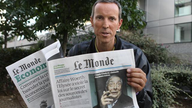Le journaliste du Monde, Gérard Davet, le 13 septembre 2010 à Paris [Pierre Verdy / AFP/Archives]