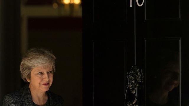 La Première Ministre britannique Theresa May au 10 Downing Street, le 24 juillet 2018 à Londres [Daniel LEAL-OLIVAS / AFP/Archives]
