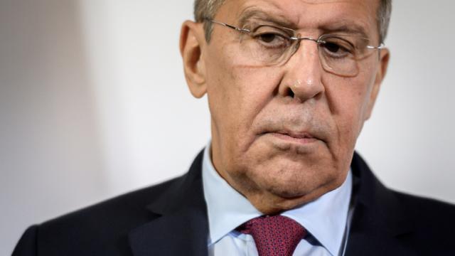 Sergueï Lavrov, ministre des Affaires étrangères russe, le 28 novembre 2018 à Genève, en Suisse [Fabrice COFFRINI / AFP/Archives]