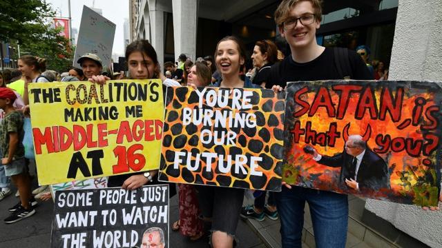 Les manifestants à Sydney ont lancé une nouvelle série de manifestations sur le climat. [Saeed KHAN / AFP]