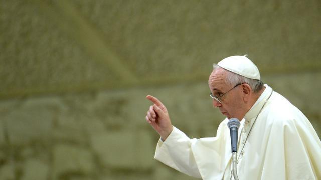 Le pape François au Vatican le 5 septembre 2015 [FILIPPO MONTEFORTE / AFP/Archives]