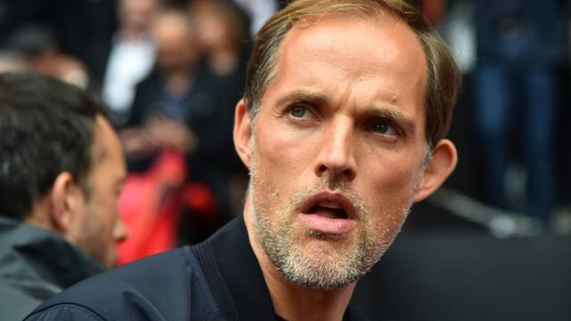 L'entraîneur du Paris SG Thomas Tuchel lors du déplacement à Rennes le 23 septembre 2018 [JEAN-FRANCOIS MONIER              / AFP]