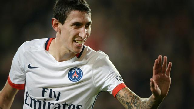 L'attaquant du PSG Angel Di Maria buteur contre Rennes, le 30 octobre 2015 à Rennes [Jean-Sebastien Evrard / AFP]