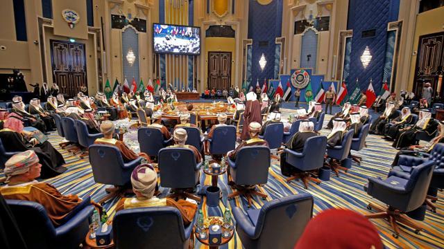 Photo de l'édition 2017 du conseil de coopération du Golfe (CCG), le 5 décembre 2017 au Koweït [Yasser Al-Zayyat / AFP/Archives]