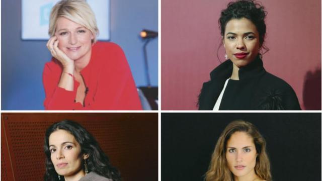 De h. en b. et de g. à d. : Anne-Elisabeth Lemoine, Zita Hanrot, Yael Naim et Elodie Clouvel.