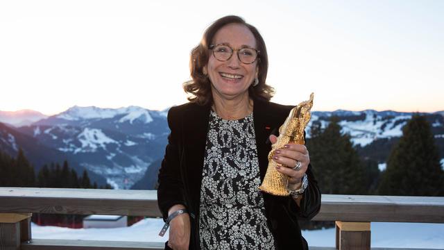 Françoise Holder, présidente de Force Femmes, a reçu son prix à Avoriaz