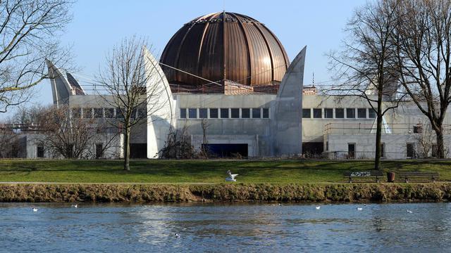 Le chantier de la grande mosquée de Strasbourg le 1er mars 2011 [Patrick Hertzog / AFP/Archives]