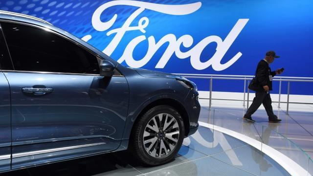 Le constructeur Ford va supprimer 7.000 emplois à travers le monde d'ici fin août [GREG BAKER / AFP]