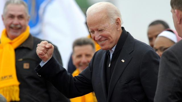 Joe Biden, le 18 avril 2019 à Dorchester, dans le Massachusetts [JOSEPH PREZIOSO / AFP/Archives]