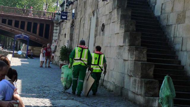Des agent de la propreté à Paris.