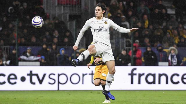 Edinson Cavani a ouvert le score pour le PSG.