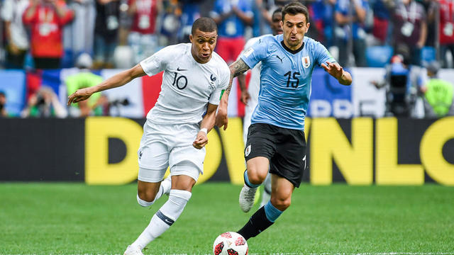 Kylian Mbappé et les Bleus avaient éliminé l'Uruguay en quart de finale de la Coupe du monde.