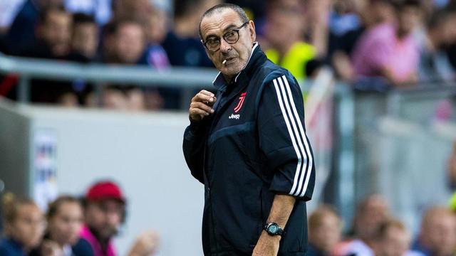 Maurizio Sarri est arrivé cet été sur le banc de la Juventus Turin.