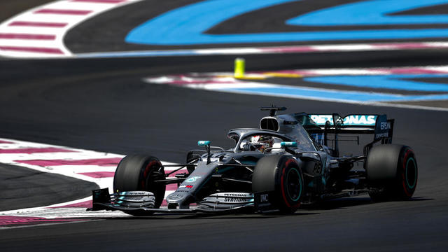 Lewis Hamilton a mené la course d'un bout à l'autre des 53 tours.