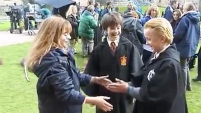 Leurs sourires de gamins insouciants jouant à se taper dans les mains sur le tournage d'«Harry Potter» sont craquants.