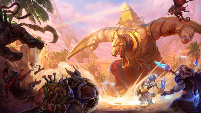 Le titre de Blizzard permet à deux équipes de cinq de s'affronter dans des arènes fermées.