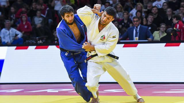 Saeid Mollaei, à droite, lors du Grand Slam de Paris en 2019