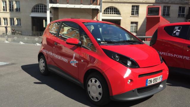 Six véhicules 100 % électriques sont testés par la BSPP pendant au moins six mois.
