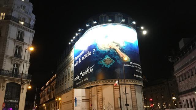Une publicité pour l'Arabie Saoudite fait polémique à Paris.
