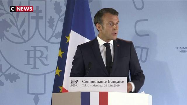 Climat : Emmanuel Macron riposte au Japon