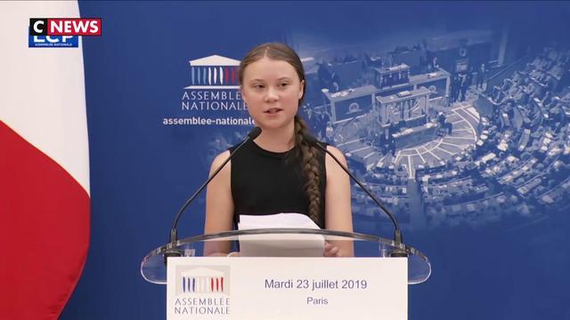 Greta Thunberg alerte l'Assemblée nationale sur le changement climatique