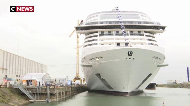 Le paquebot géant MSC Grandiosa prend la mer