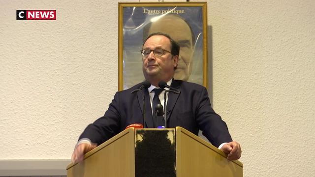 François Hollande à Jarnac, un hommage en forme de campagne politique