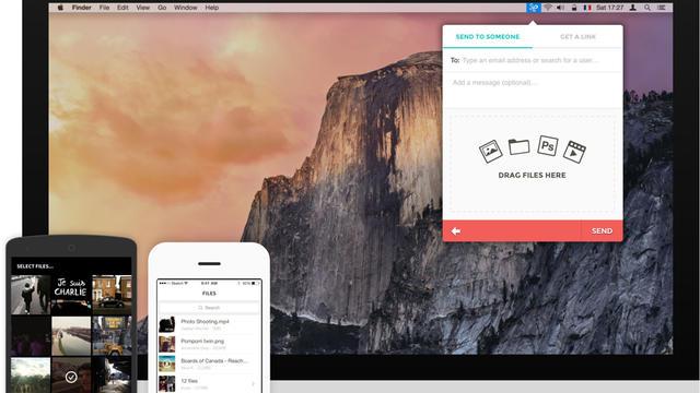 L'application permet de partager des fichiers parfois très lourds sans avoir à les compresser.