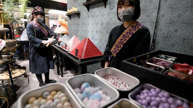 Une boutique de chocolats à Tokyo (illustration).