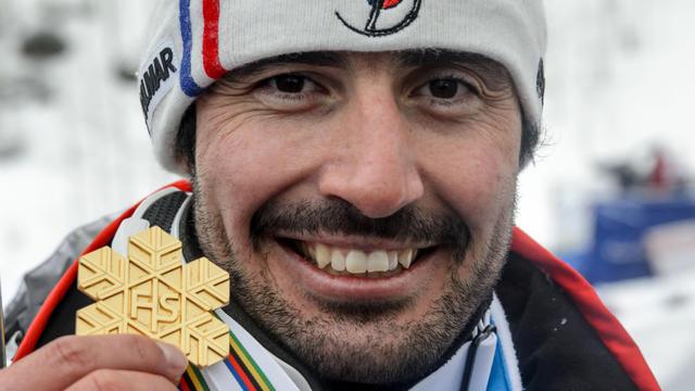 Jean-Baptiste Grange a décroché la médaille d'or en slalom aux Mondiaux de ski à Beaver Creek.